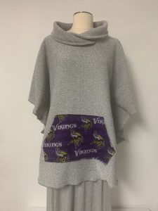 605 poncho gray with viking pocket
