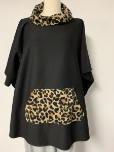 poncho 16 blk with animal 1 of k $59