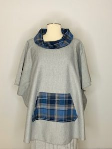 gray blue plaid